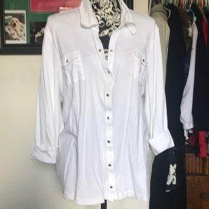 White 3/4 Sleeve Blouse